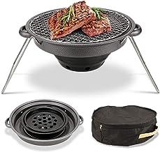 GYH-CHU Parrilla Barbacoa de carbón Parrilla Barbacoa al Aire Libre Patio al Aire Libre Patio Trasero Cocina de Carne Fumador con ahumador Compensado