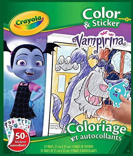 CRAYOLA- Libro de Colores y Pegatinas Vampirina, Multicolor (04-0481-E-000)