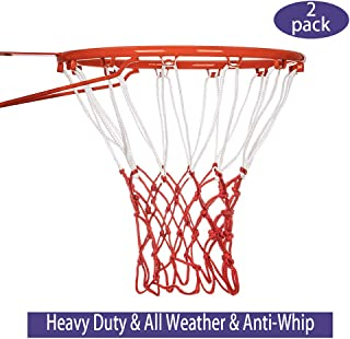 Vaysin 2 PCS Basketball Net Replacement Hoop Net with 12 Loops for All Weather, Fits Standard Indoor or Outdoor