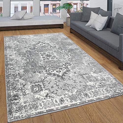 Tappeto Salotto Moderno Pelo Corto con Ornamenti Vintage Orientale Diversi Stili, Dimensione:200x290 cm, Colore:Gris 2