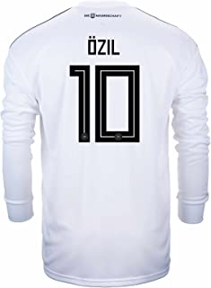 adidas Ozil #10 Germany Home Soccer Long Sleeve Stadium Jersey World Cup Russia 2018