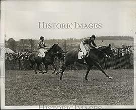 Historic Images - 1938 Press Photo MD Point to Point Race Tres Bon wins vs Blockade