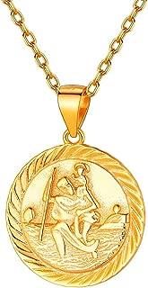 Saint Christopher/Joseph/Anthony/Thomas/Paul Necklace Bracelet Stainless Steel Catholic Patron Saints Medal Jewelry, Traveler Medallion Blessings Gift Customize Available (Send Gift Box)