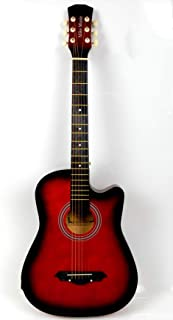38 inch MIKE MUSIC Acoustic Guitar with Bag and Strap (red)
