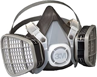 3M Disposable Respirator, Half Face Piece Assembly 5301, Organic Vapor Respiratory Protection, Large Size