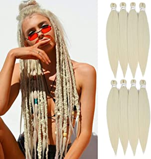 [MULTI PACKS DEAL] SOKU Spetra Pre-Stretched Braiding Hair Extensions 24 inch #613 Color - 8 Bundles Synthetic Crochet Bra...