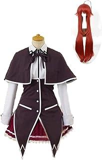 CHENJUNAMZ Anime High School DXD RIAS Gremory Cosplay KOSTUUM Anime Rias Cosplay Disfraz de Fiesta de (Color : Full Set Wi...