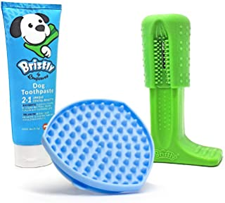 Bristly Brushing Stick - The Original Dog Toothbrush Chew Toy Made from FDA Food Grade TPE - Dog Teeth Cleaning Toy for He...