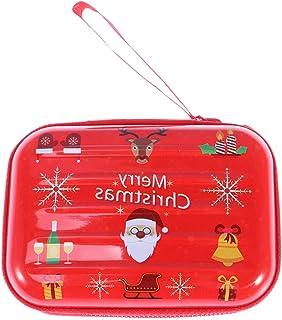 PRETYZOOM - Mini portamonete con chiusura a cerniera, con chiusura a cerniera, per riporre le chiavi, con Babbo Natale