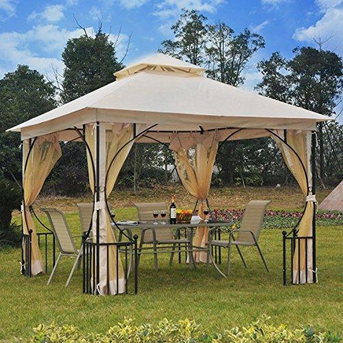 Generic O-8-O-4292-O ter W/N Garden Patio arty Sh Gazebo Canopy o Weddi 10 x 10 Garden Wedding Party Shelter W/Netting Gazebo ft Outdoor NV_1008004292-TYQFUS32