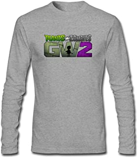 Tommery Men's Plants vs. Zombies PNG Long Sleeve Cotton T Shirt