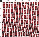 Rot, Telefonzelle, England, Britisch, London Stoffe -