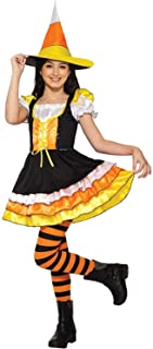 Forum Novelties Child's Little Miss Candy Corn Costume Dress, As Shown, Large