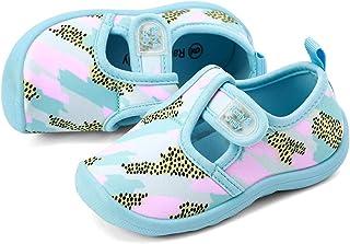RANLY & SMILY Kids Aquatic Cute Water Shoes, Girls & Boys Walking Sneakers Sandals