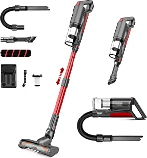 Cordless Vacuum Cleaner, Aucma by whall 21000pa 5 in 1 Cordless Stick Vacuum Cleaner,250W Brushless Motor,up to 53 Mins Ru...