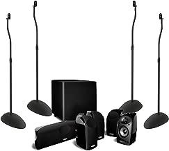 Polk Audio TL1600 5.1-Channel Home Theater System Bundle with Sanus HTB3-B1 Adjustable Speaker Stand (2-Pair) - Black