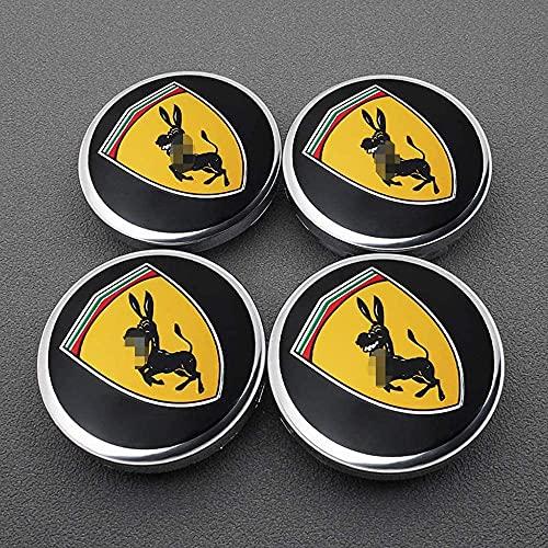 4 Piezas Coche Centro De Rueda Tapas centrales para Ferrari Ford Mustang 60mm, Rueda Emblema Logo Insignia Llantas centrales Emblema Accesorios