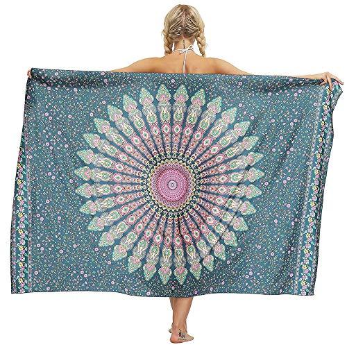 DKzyy Printing Strandhanddoek, sneldrogende handdoek voor zwemmers, zonnescherm sjaal Bikini Cover Up groot 170 * 114cm voor reizen en strand deken
