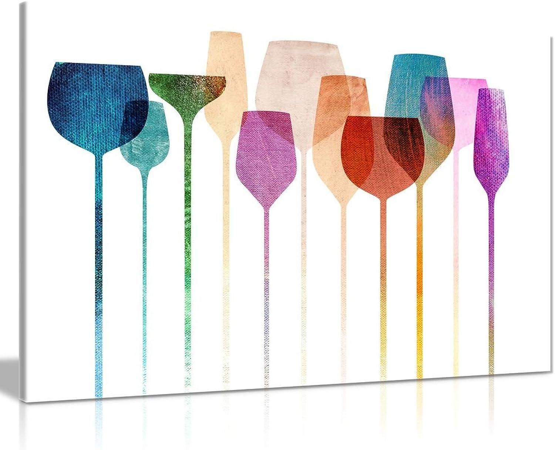 para barato WTD WTD WTD - Lienzo decorativo para parojo, Diseño de gafas de vino, A0 91x61cm (36x24in)  Envío rápido y el mejor servicio