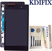 KDIFIX for Sony Xperia Z1 L39h C6902 C6903 C6906 C6943 LCD Touch Screen Assembly + Frame with Full Professional Repair Tools kit (Black+Frame)