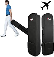 Golf Travel Bag - Golf Club Travel Cover to Carry Golf Bags and Protect Your Equipment On The Plane With Wheels Foldable