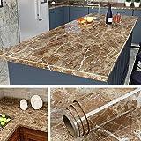 Livelynine - Papel de contacto de granito para encimera de cocina, papel de granito, para muebles antiguos, impermeable, extraíble, extragrande, de vinilo