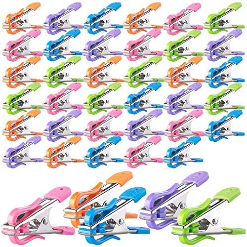 PEARL Soft-Wäscheklammer-Sets: Soft-Grip-Wäscheklammern mit Doppel-Kleiderhaken, 40 Stück, 5 Farben