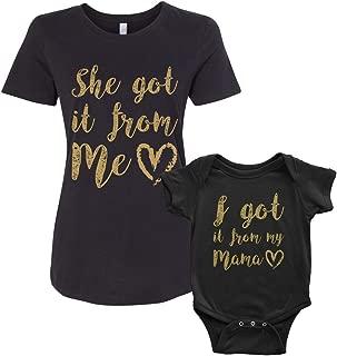 Got It from My Mama Infant Bodysuit & Women's T-Shirt Matching Set
