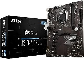 MSI Pro Series Intel Coffee Lake H310 LGA 1151 DDR4 Onboard Graphics ATX Motherboard (H310-A PRO)
