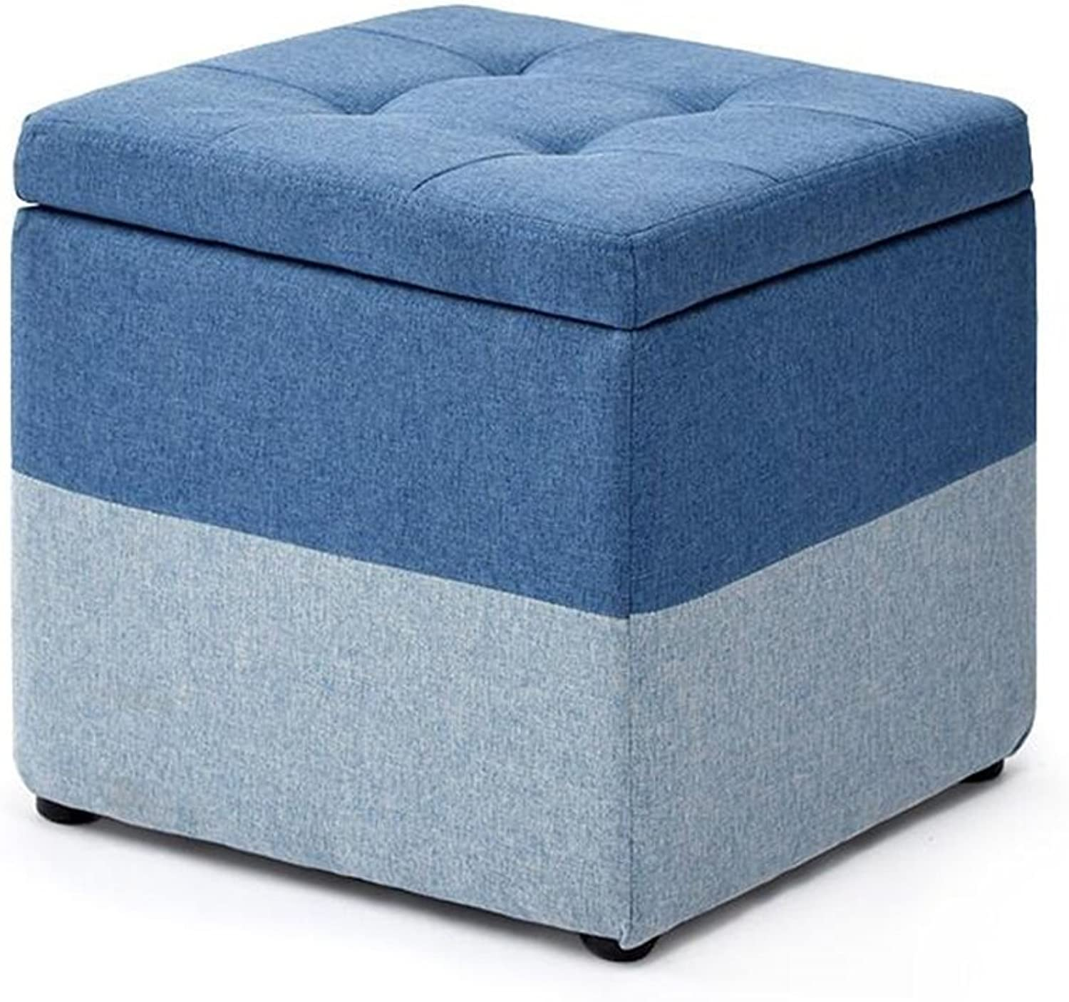 Footstools, Stool Fashion Footstool Simple Storage shoes Bench (color   bluee)