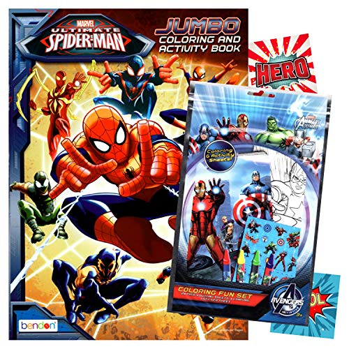 Spiderman Coloring Book with Fun Set (Coloring Book & Crayons, Stickers)