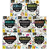 STEM Starters for Kids 8 Activity Books Collection Set (Science, Robotics, Geology, Technology, Biology, Meteorology, Engineering & Maths)