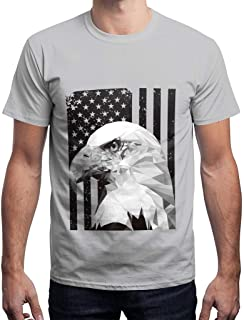 Fiaya 4th of July Men Blouse Star American Flag Patriotic T-Shirt Short Sleeve 3D Printed Tank Tops T-Shirt