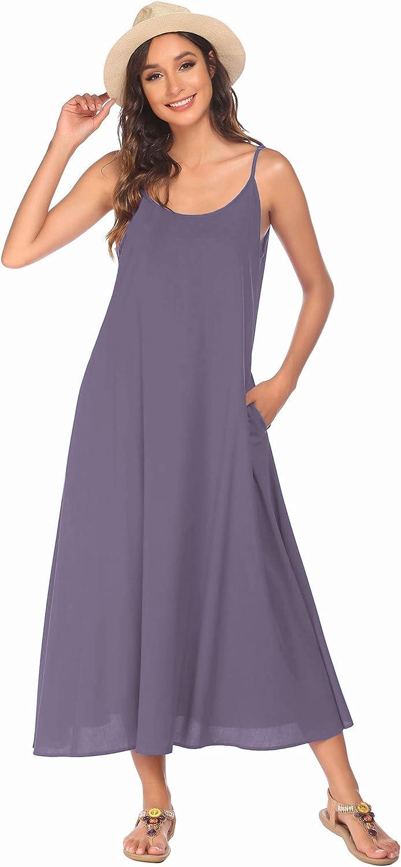Ekouaer Swimsuit Cover Ups for Women Long Maxi Beach Dresses Casual Dress for Summer S-XXL