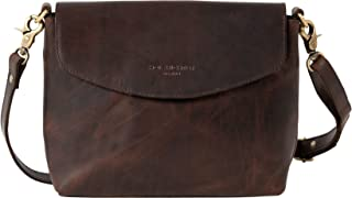 HOLZRICHTER BERLIN Damen Umhängetasche (M) – Premium Leder Handtasche klein