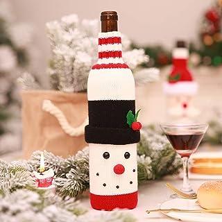 ワインカバー クリスマス 飾り サンタ 雪だるま ボトルカバー ワインバッグ ニット素材 お酒 ワイン ラピング材 かわいい 北欧 クリスマス 雑貨 ワインボトルカバー ギフト包装 クリスマスイブ 飾り パーティー インテリア 小物 プチギフト