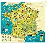 Vilac 50 x 55 cm Mapa de Francia Olivier cartón Puzzle (300 Piezas)
