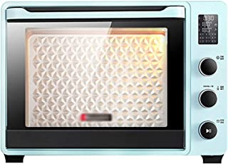 CL- Chun Li Mini Horno eléctrico - Azul de 4 Capas for el consumidor y Comercial 40L Control electrónico de Temperatura Horno eléctrico multifunción, 51.3x40.6x36.5cm Horno Tostador (Color : Blue)