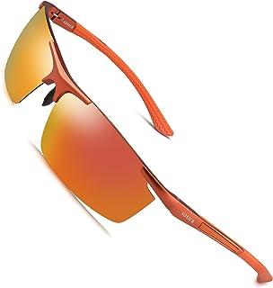 01eb5e3cf0 Soxick Men s Polarized Sunglasses UV400 Retro Unbreakable Metal Driving  Sunglasses