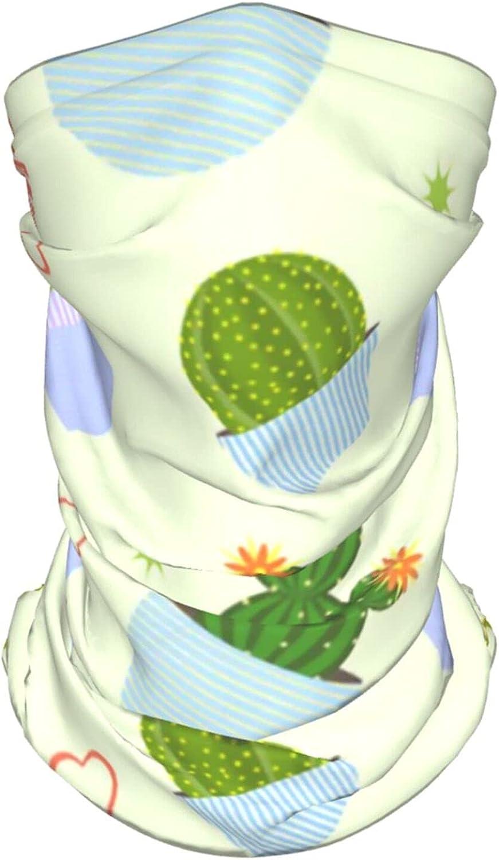 Cactus Neck Gaiter Multipurpose Headwear Ice Silk Mask Scarf Summer Cool Breathable Outdoor Sport 4 Pcs