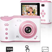 Kids Camera, 8.0MP Digital Dual Camera Rechargeable Shockproof Camcorder Camera With 2.8..