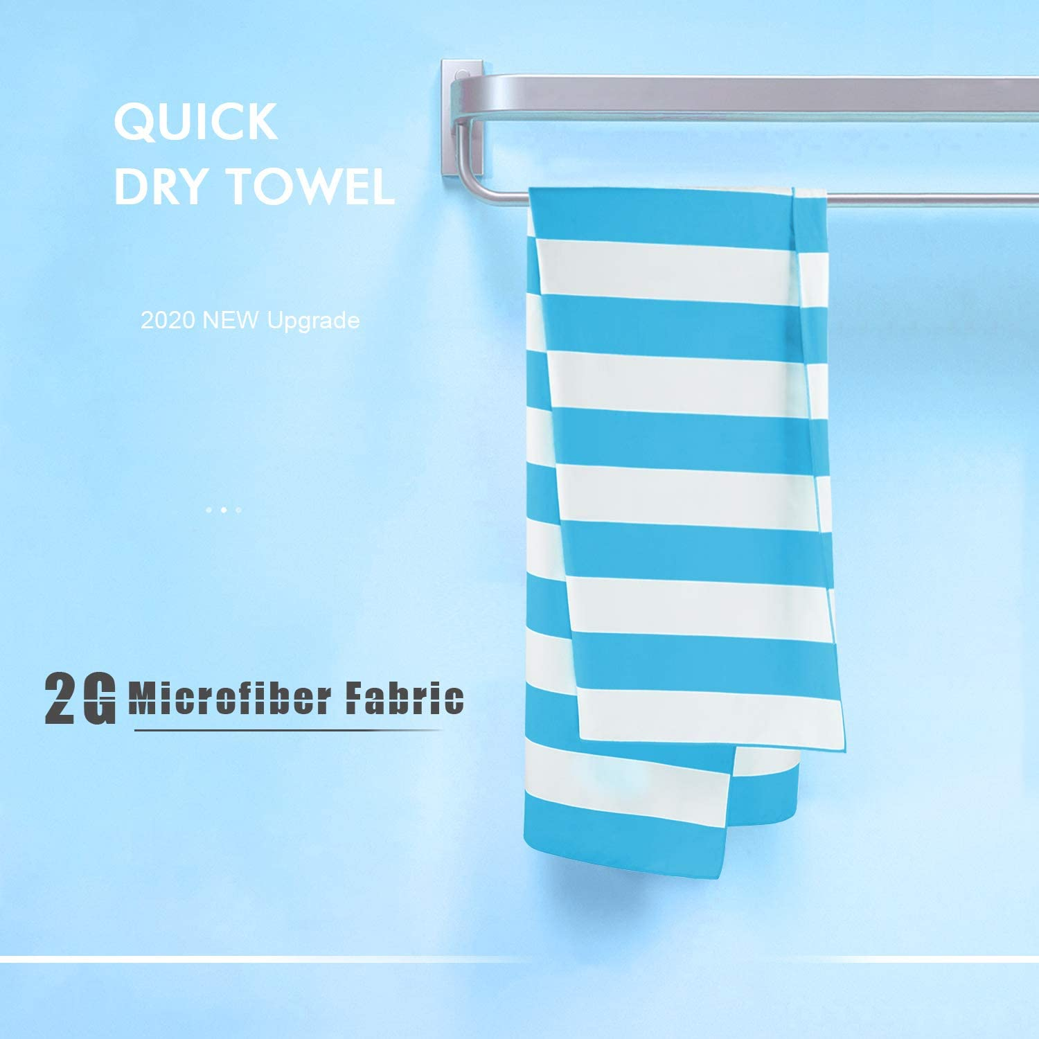 Sand Free Towel Extra Large XL 79x36, Large 67x36 Compact Lightweight/… 1 or 6 Pack DARCHEN Microfiber Beach Towels Oversize Quick Dry Towel for Kids Adult - Travel Beach Towel for Swimming Pool