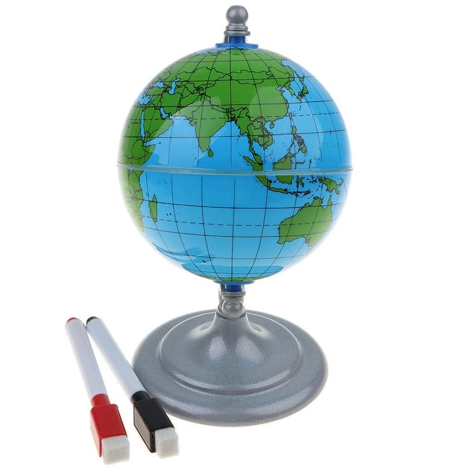 メダルセグメント霊P Prettyia 世界地図学習 グローブ 地球儀 ホワイトボードペン付き 教育玩具