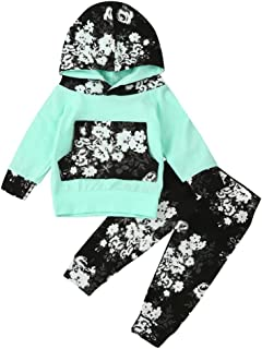 Lavany Infant Baby Girl Fall Outfits Long Sleeve Floral Tops +Pants Clothes Set