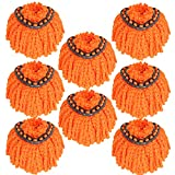 8Pack Spin Mop Heads Replacements for O Cedar Spin Mop, Easy Cleaning Spin Mop Refills Microfiber Mop Heads, 360Degree Dust Mop Head Replacement for Floor Cleaning, Easy Wring