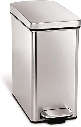 simplehuman Profile Step Trash Can, 10-Liter/2.6-Gallon