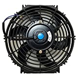 Upgr8 Universal High Performance 12V Slim Electric Cooling Radiator Fan With Fan Mounting ...
