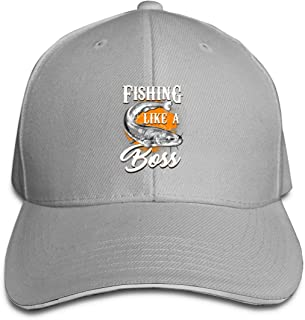 Fishing Like A BOSS Sandwich Baseball Caps Unisex Trucker Style Hats Gray