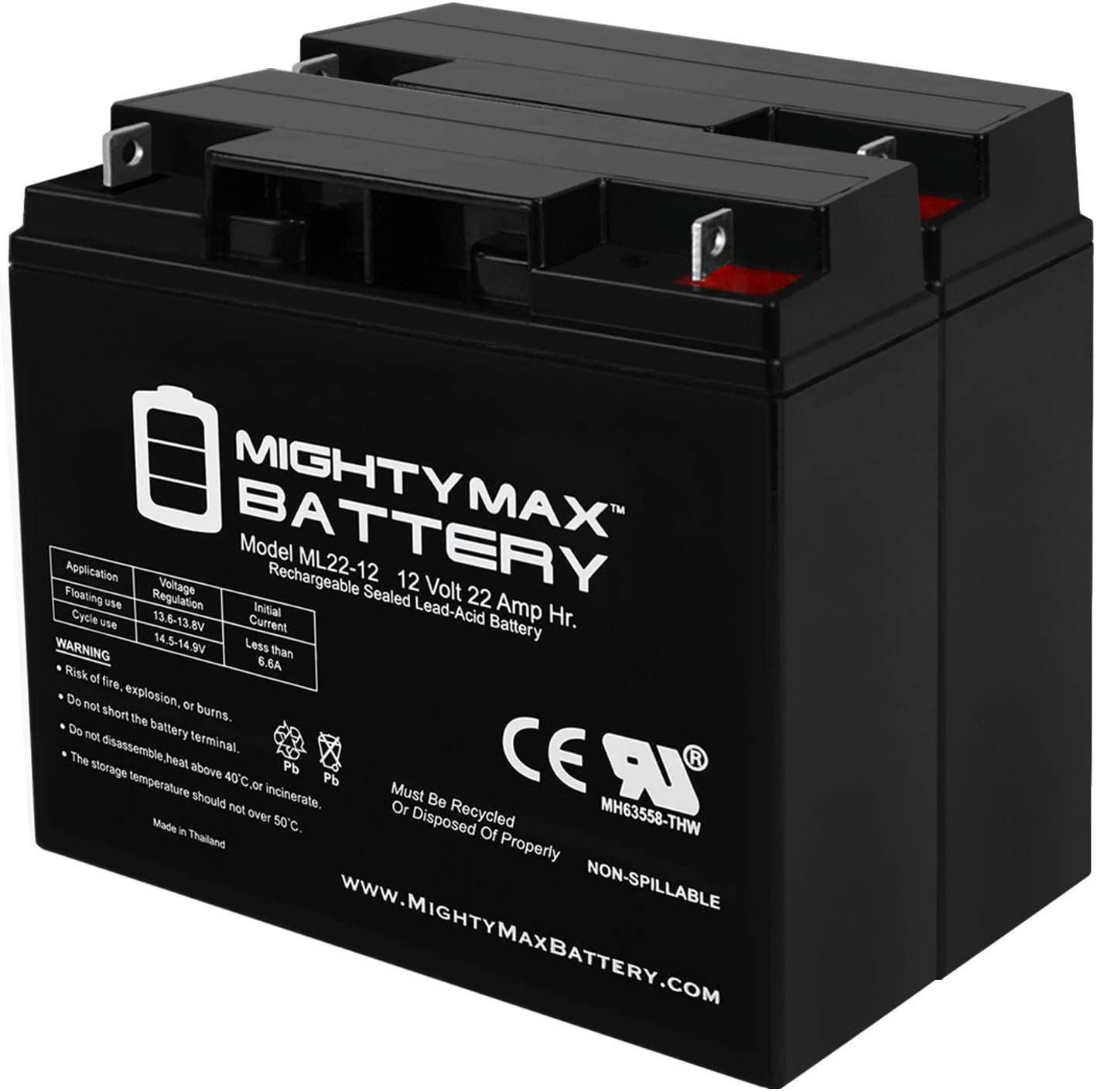 Mighty Max Battery 12V 22AH Ranking TOP6 SLA Max 68% OFF for Smart APC Compatible