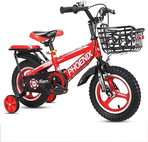 bienvenido a comprar BAICHEN Bicicletas para para para Niños 12 14 16 18 Pulgadas, Bicicleta para Niños con Rueda de Entrenamiento para Niños y niñas de 2 a 9 años de Edad.Tres Colors Disponibles,rojo,16inches  tienda en linea